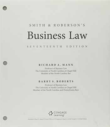 9781337497664-1337497665-Bundle: Smith and Roberson's Business Law, Loose-Leaf Version, 17th + MindTap Business Law, 1 term (6 months) Printed Access Card