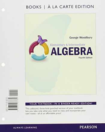 9780134265179-0134265173-Elementary & Intermediate Algebra, Books a la Carte Edition, plus MyMathLab -- Access Card Package (4th Edition)