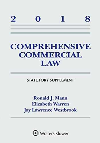 9781454894551-1454894555-COMPREHENSIVE COMMERCIAL LAW:2018 SUPP. @DUE 7/18,CLN Clean: Limited cribbing or fill-in's@