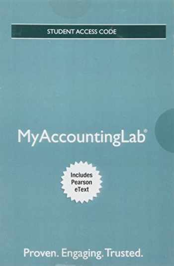 9780134450810-0134450817-MyLab Accounting with Pearson eText -- Access Card -- for Horngren's Financial & Managerial Accounting