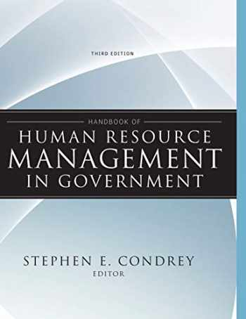 9780470484043-0470484047-Handbook of Human Resource Management in Government