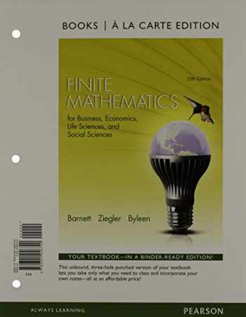 9780321947468-0321947460-Finite Mathematics for Business, Economics, Life Sciences and Social Sciences, Books a la Carte Plus MyLab Math with Pearson eText -- Access Card Package (13th Edition)