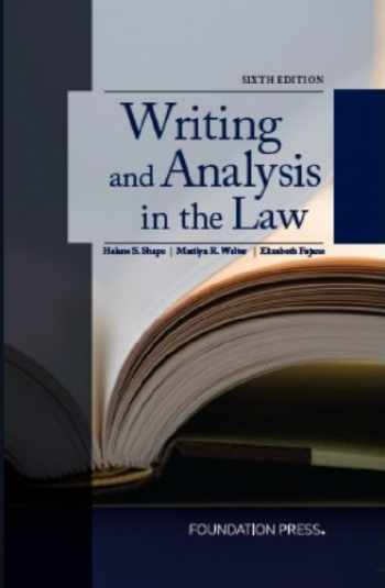 9781609302726-1609302729-Writing and Analysis in the Law, 6th Edition