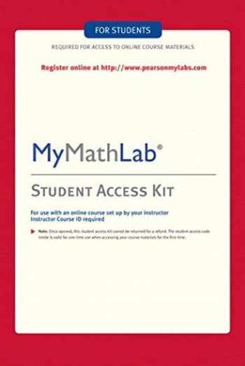 Sell Buy Or Rent Mymathlab Student Access Kit 9780321199911