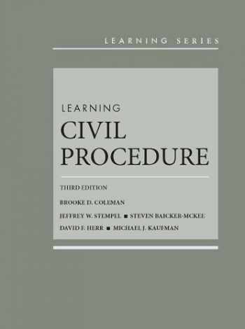 9781683288626-1683288629-Learning Civil Procedure (Learning Series)