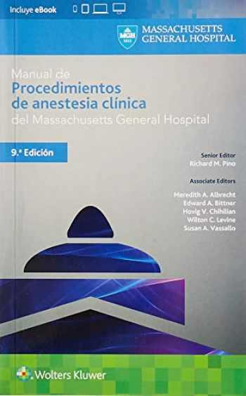 Sell, Buy or Rent Manual de procedimientos de anestesia
