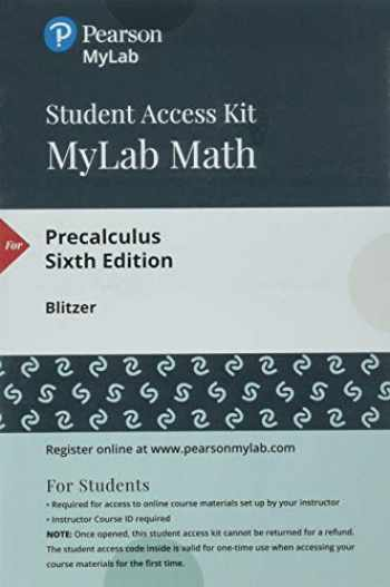 9780134757834-0134757831-MyLab Math with Pearson eText -- 24-Month Standalone Access Card -- for Precalculus (6th Edition)