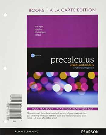 9780134379968-0134379969-Precalculus: Graphs and Models, A Right Triangle Approach, Books a la Carte Edition plus MyLab Math with Pearson eText -- 24-Month Access Card Package (6th Edition)