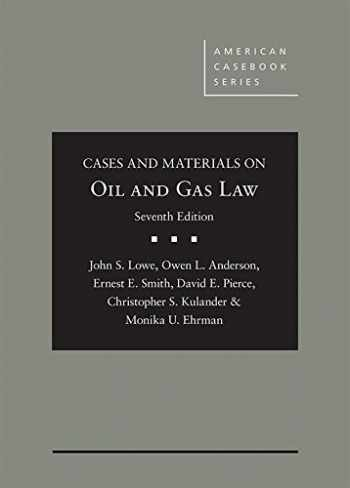 OIL+GAS LAW:CS.+MTRLS. Clean: Limited cribbing or fill-in's@ DUE 4/18,CLN @