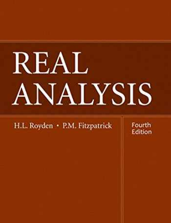 9780134689494-0134689496-Real Analysis (Classic Version) (4th Edition) (Pearson Modern Classics for Advanced Mathematics Series)