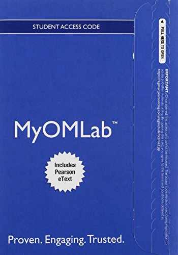 9780133885583-0133885585-MyOMLab with Pearson eText -- Access Card -- for Operations Management: Processes and Supply Chains