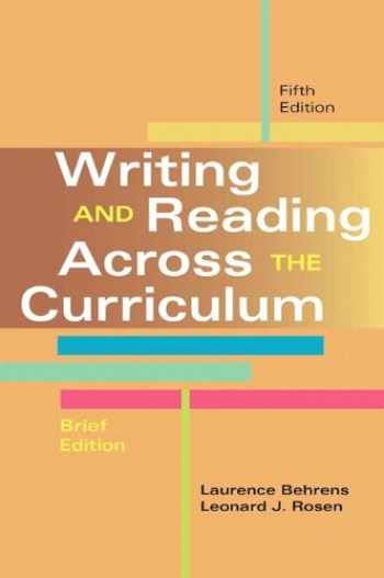 9780321906366-0321906365-Writing and Reading Across the Curriculum, Brief Edition (5th Edition)