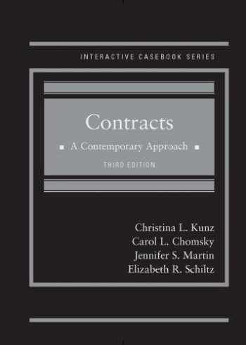 9781683288152-1683288157-Contracts: A Contemporary Approach (Interactive Casebook Series)