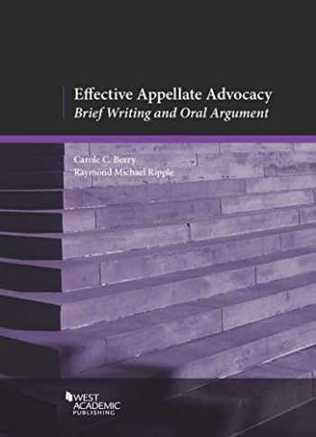 9780314278395-0314278397-Effective Appellate Advocacy: Brief Writing and Oral Argument (American Casebook Series)