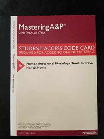 Sell, Buy or Rent MasteringA&P with Pearson eText - Valuepack Access ...