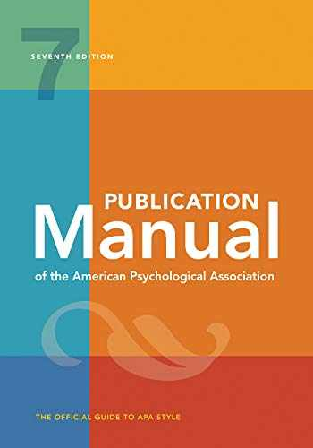9781433832161-143383216X-Publication Manual of the American Psychological Association: 7th Edition, 2020 Copyright
