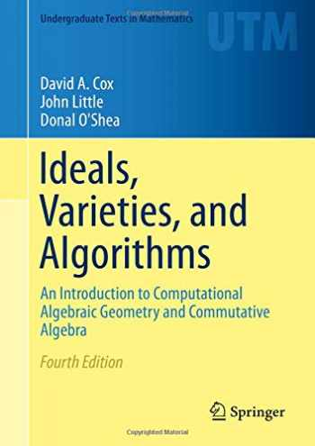 9783319167206-3319167200-Ideals, Varieties, and Algorithms: An Introduction to Computational Algebraic Geometry and Commutative Algebra (Undergraduate Texts in Mathematics)