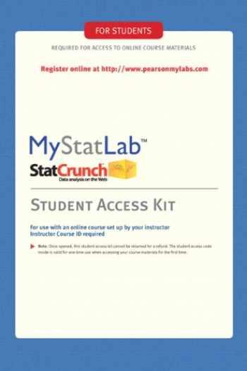 9780321694645-0321694643-MyStatLab Student Access Kit: Including Statcrunch