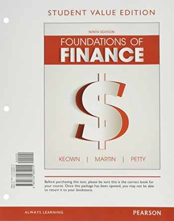 9780134426815-0134426819-Foundations of Finance, Student Value Edition Plus Mylab Finance with Pearson Etext - Access Card Package