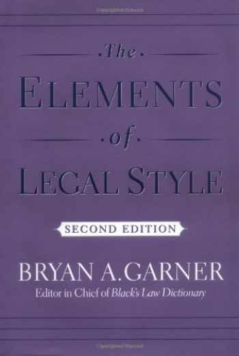 9780195141627-0195141628-The Elements of Legal Style