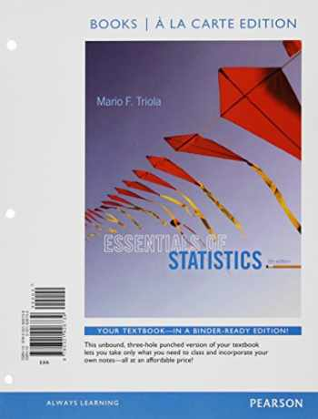 9780133892697-0133892697-Essentials of Statistics Books a la carte Plus NEW MyLab Statistics with Pearson eText -- Access Card Package (5th Edition)