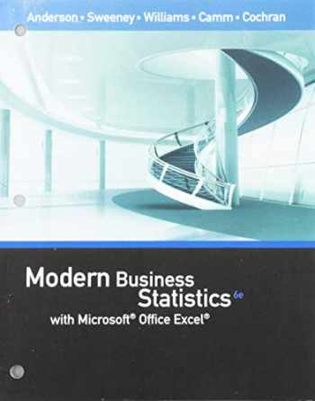 9781337607476-1337607479-Bundle: Modern Business Statistics with Microsoft Office Excel, Loose-Leaf Version, 6th + MindTap Business Statistics with XLSTAT, 1 term (6 months) Printed Access Card