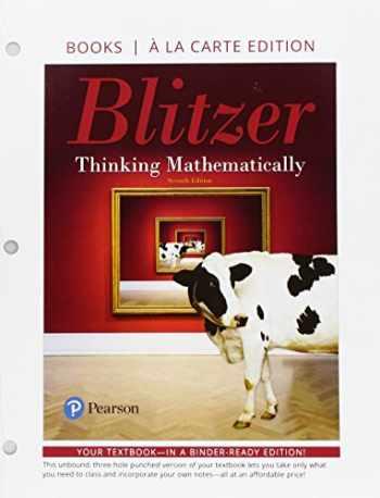 9780134686516-0134686519-Thinking Mathematically, Books a la Carte Edition (7th Edition)