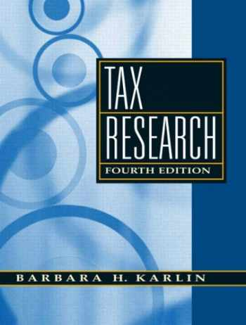 Tax Research (4th Edition)