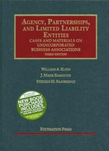 9781599414973-159941497X-Agency, Partnerships, and Limited Liability Entities: Unincorporated Business Associations, 3d (Interactive Casebook Series)