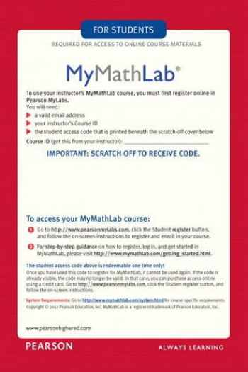 9780321431301-0321431308-MyMathLab/MyStatLab - Glue-in Access Card
