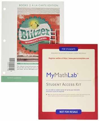 9780134584881-0134584880-Intermediate Algebra for College Students, Books a la Carte Edition PLUS MyMathLab (7th Edition)
