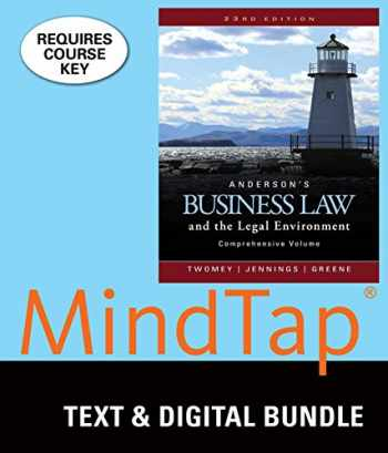 9781337061278-1337061271-Bundle: Anderson's Business Law and the Legal Environment, Comprehensive Volume, Loose-Leaf Version, 23rd + MindTap Business Law, 2 terms (12 months) Printed Access Card