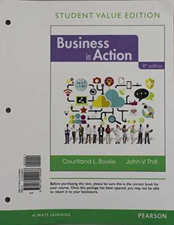 9780134149486-0134149483-Business in Action, Student Value Edition (8th Edition)