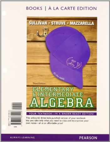 9780321915139-0321915135-Elementary & Intermediate Algebra Books a la Carte Edition Plus NEW MyLab Math with Pearson eText -- Access Card Package (3rd Edition)