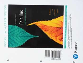 9780134840413-0134840410-Calculus & Its Applications Books a la Carte Edition plus MyLab Math with Pearson eText -- 24-Month Access Card Package (14th Edition)