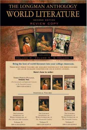 9780205625925-0205625924-The Longman Anthology of World Literature, Volume II (D,E,F): The Seventeenth and Eighteen Centuries, The Nineteenth Century, and The Twentieth Century (2nd Edition)