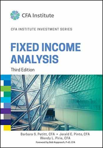 9781118999493-1118999495-Fixed Income Analysis (CFA Institute Investment Series)