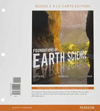 9780134298573-0134298578-Foundations of Earth Science, Books a la Carte Plus Mastering Geology with Pearson eText -- Access Card Package (8th Edition)