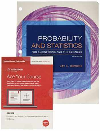 9781337762021-1337762024-Bundle: Probability and Statistics for Engineering and the Sciences, Loose-leaf Version, 9th + WebAssign Printed Access Card for Devore's Probability ... and the Sciences, 9th Edition, Single-Term