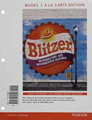 9780134584904-0134584902-Introductory & Intermediate Algebra for College Students, Books a la Carte Edition PLUS MyMathLab (5th Edition)