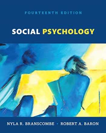 9780134561981-0134561988-Social Psychology, Books a la Carte (14th Edition)