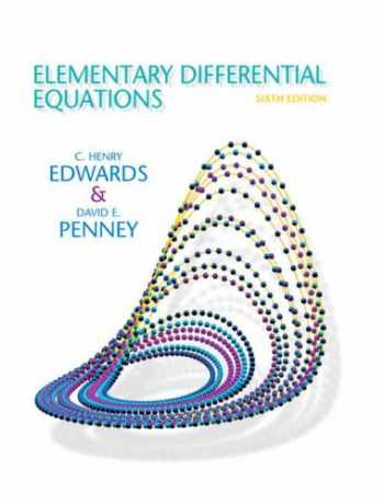 9780132397308-0132397307-Elementary Differential Equations (6th Edition)