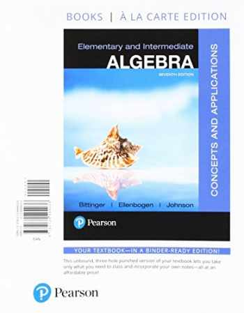 9780134494036-0134494032-Elementary and Intermediate Algebra: Concepts and Applications, Books a la Carte Edition (7th Edition)