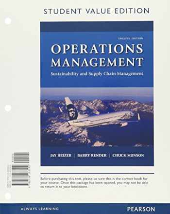 9780134471815-0134471814-Operations Management: Sustainability and Supply Chain Management, Student Value Edition Plus MyOMLab with Pearson eText -- Access Card Package (12th Edition)