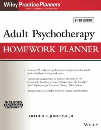 9781119278078-1119278074-Adult Psychotherapy Homework Planner, 5th Edition (PracticePlanners)