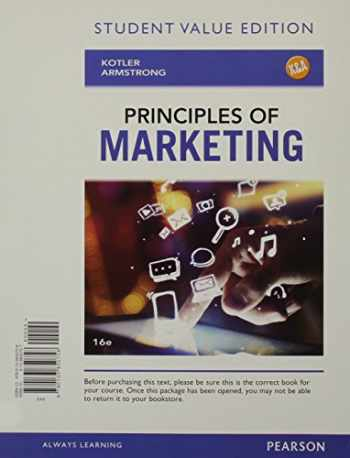 9780133850758-0133850757-Principles of Marketing, Student Value Edition (16th Edition)