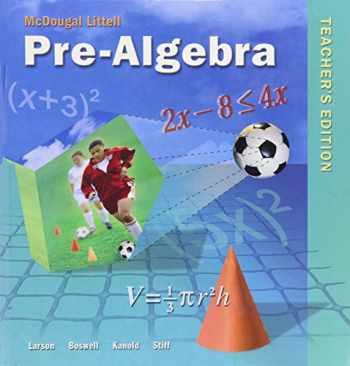 9780618250042-0618250042-Pre-Algebra, Teacher's Edition