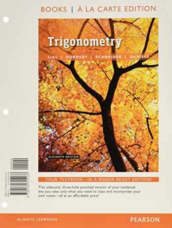 9780134306025-0134306023-Trigonometry, Books a la Carte Edition plus MyLab Math with Pearson eText -- 24-Month Access Card Package (11th Edition)