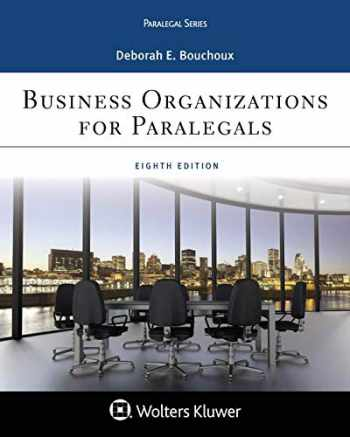 9781454896241-1454896248-Business Organizations for Paralegal (Aspen Casebook)