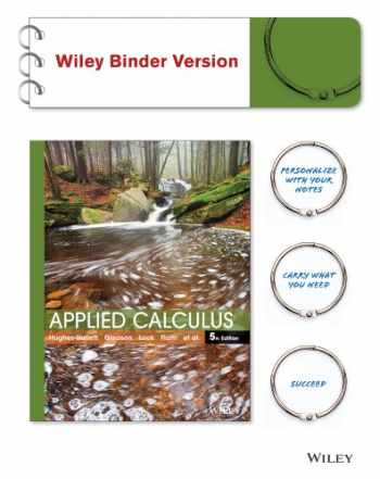 9781118865774-1118865774-Applied Calculus 5E WileyPLUS with Loose-Leaf Print Companion with WileyPLUS Card Set (Wiley Plus Products)